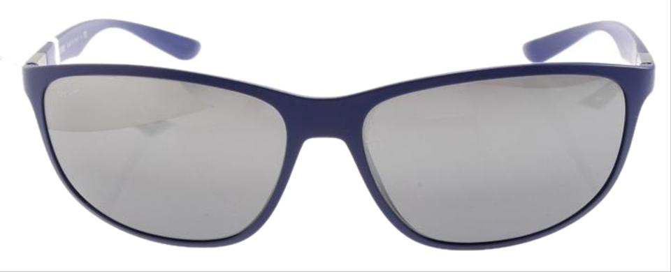 0db23cbc7e9c0 Ray-Ban Ray Ban RB 4213 6161 88 61 Liteforce Matte Blue Mirrored Image ...