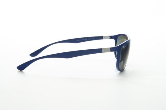 Ray-Ban New Ray Ban RB 4213 6161/88 61 Liteforce Matte Blue Mirrored Image 1