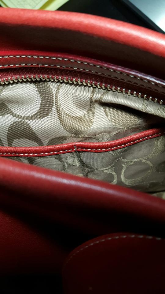 05f152aa05 Coach G2j-9186 Red Leather Shoulder Bag - Tradesy