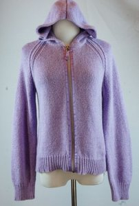 J. Jill Jill Hoodie Zip Front Cardigan Hooded Zipper Sweater
