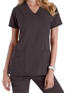 Jockey Scrubs Tri-blend V-neck Scrub Top Granite (dark gray)