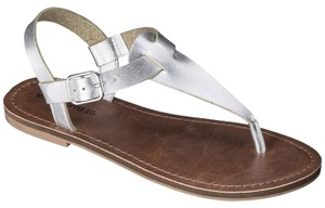 Mossimo Supply Co. Nwt New With Tags Silver Sandals