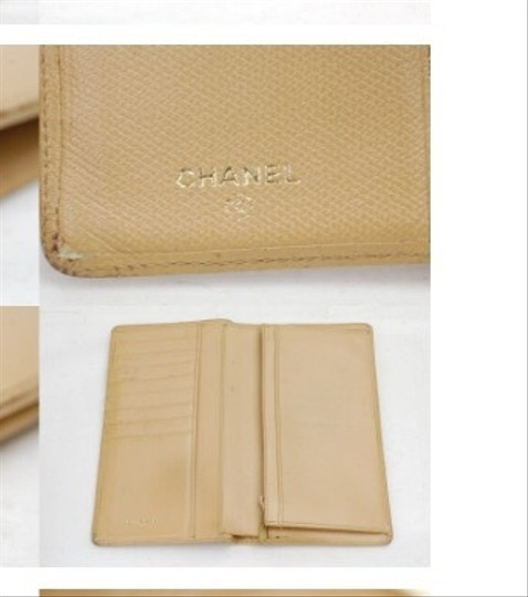 Chanel Chanel Long Wallet Beiges Leather
