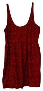 Red Maxi Dress by Urban Outfitters Hearts Romantic Sleeveless Flirty Zipper Flattering Soft Comfortable