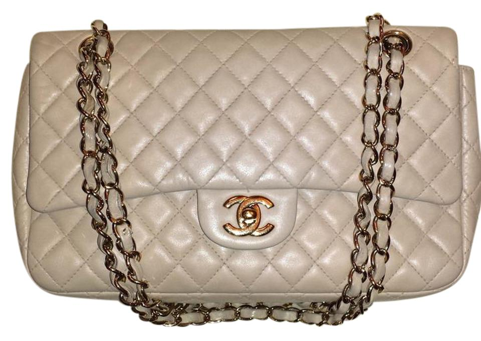 a357b28fc57e Chanel Classic Flap 2.55 Reissue L Quilted Medium Large M/L Soft Single  Beige Tan Lambskin Leather Shoulder Bag