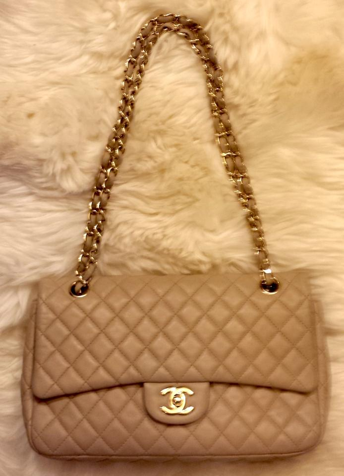 78a08df6cac2 Chanel Medium 2.55 Classic Flap Lambskin Leather Shoulder Bag Image 11.  123456789101112