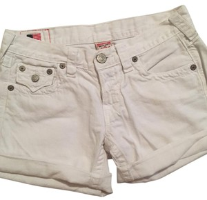 True Religion Cuffed Shorts White