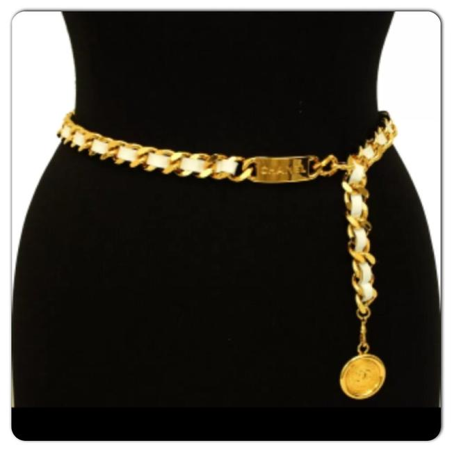 Item - White/ Gold Chain Belt/ Necklace