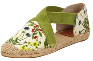 Tory Burch Catalina Espadrille Sandal Wedge Green Flats