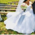 Oleg Cassini White Tulle Cpk440 Street Traditional Wedding Dress Size 6 (S) Image 2