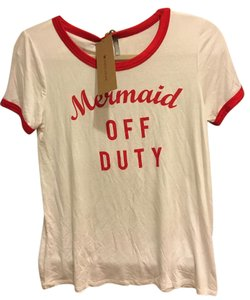 Urban Outfitters T Shirt White Red