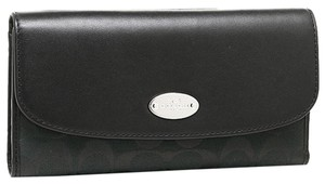 Coach F53615 Checkbook wallet in Signature and Leather