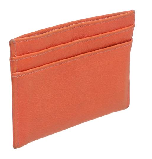 Chanel Chanel Coral Lambskin Camelia Card Holder 200618 Image 1