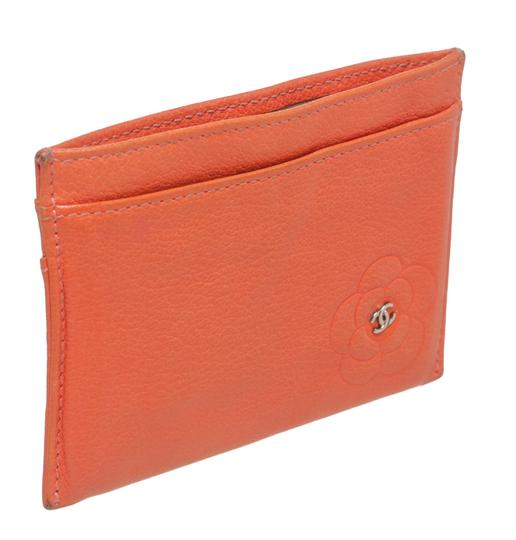 Chanel Chanel Coral Lambskin Camelia Card Holder 200618 Image 2
