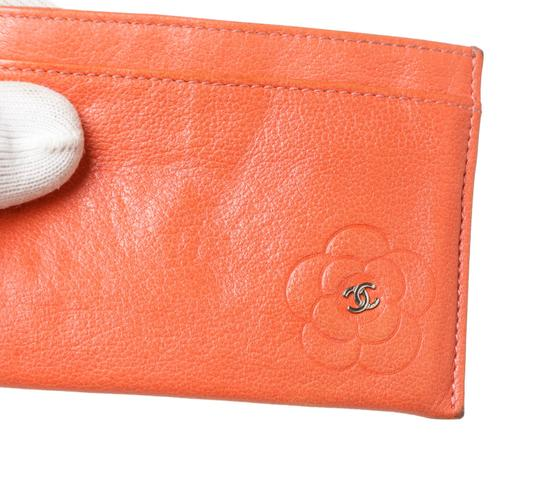 Chanel Chanel Coral Lambskin Camelia Card Holder 200618 Image 4