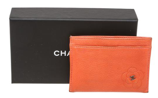 Chanel Chanel Coral Lambskin Camelia Card Holder 200618 Image 8