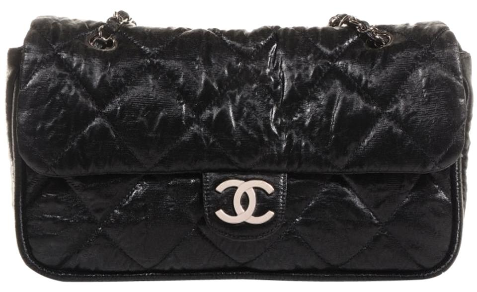 0521f9e5d4935 Chanel Classic Quilted Flap Purse Le Marais Medium Jumbo Maxi Black Coated Canvas  Shoulder Bag