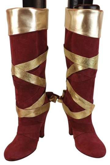 Preload https://img-static.tradesy.com/item/16774657/marc-jacobs-red-wine-suede-gold-strap-wrapped-knee-high-evening-bootsbooties-size-eu-355-approx-us-5-0-1-540-540.jpg
