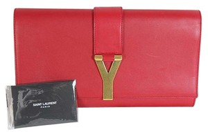Saint Laurent Y Ligne Red Clutch