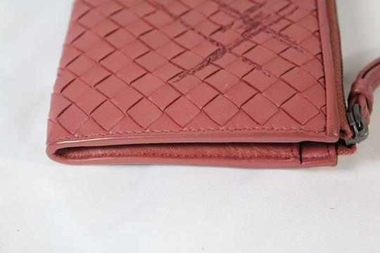 Bottega Veneta Bottega Veneta Zip Around Pink Intrecciato Nappa Leather Wallet Image 1