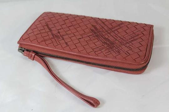 Bottega Veneta Bottega Veneta Zip Around Pink Intrecciato Nappa Leather Wallet Image 2
