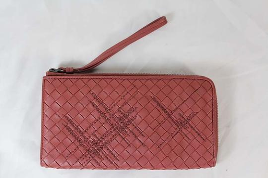 Bottega Veneta Bottega Veneta Zip Around Pink Intrecciato Nappa Leather Wallet Image 3