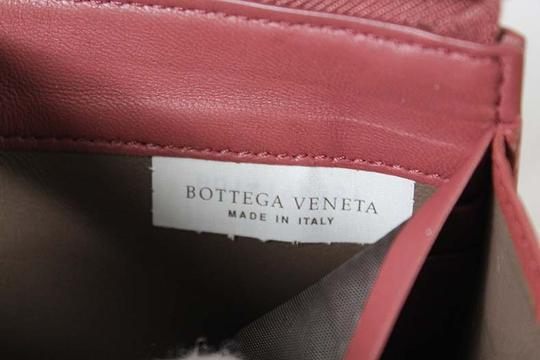 Bottega Veneta Bottega Veneta Zip Around Pink Intrecciato Nappa Leather Wallet Image 7