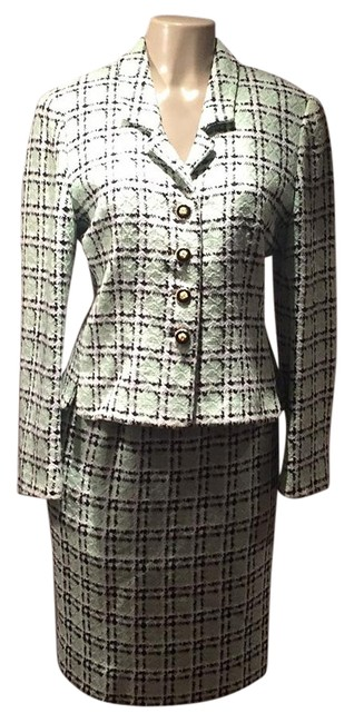 Item - Lime Green Black and White Skirt Suit Size 10 (M)