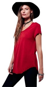 Free People We The T Shirt Red