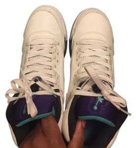 Air Jordan White, Purple And Turquoise Athletic