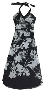 Trixxi Halter Floral Black Dress