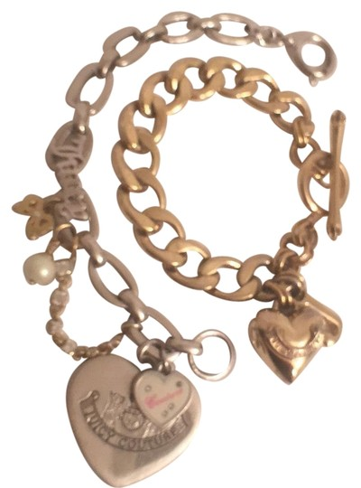 Preload https://img-static.tradesy.com/item/16775785/juicy-couture-gold-silver-1st-t-heart-wj-2nt-hearts-wcharms-bracelet-0-2-540-540.jpg