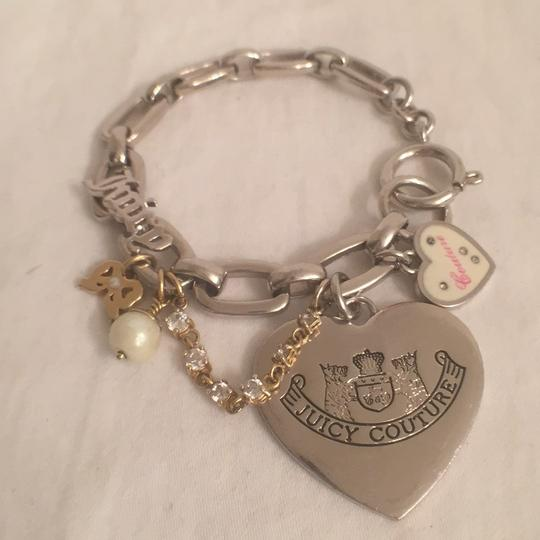 Juicy Couture 1st Gold T Heart W/J, 2nt Silver T Hearts W/Charms Juicy Couture Image 4