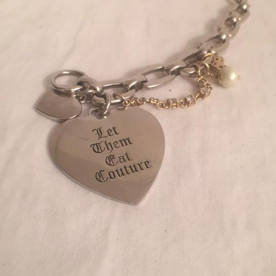 Juicy Couture 1st Gold T Heart W/J, 2nt Silver T Hearts W/Charms Juicy Couture Image 5