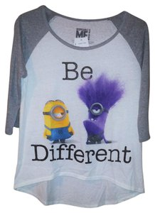 Hybrid Apparel Minions Raglan Baseball Hi Low T Shirt