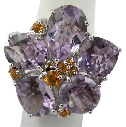 Preload https://img-static.tradesy.com/item/16775854/sima-k-amethyst-and-orange-sapphire-1142ct-sterling-silver-flower-size-8-ring-0-1-540-540.jpg