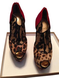 Christian Louboutin Leopard , Red Boots