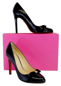 Mulberry Black Patent Leather Cap Toe Heels Pumps