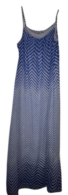 Item - Blue/White Long Casual Maxi Dress Size 6 (S)