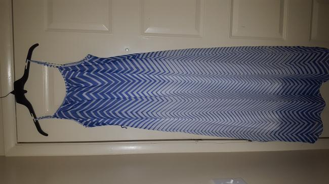 Blue/white Maxi Dress by Robbie Bee Image 1