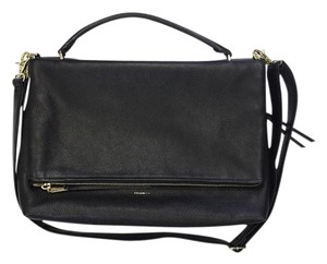 Coach Black Peblled Leather Cross Body Bag