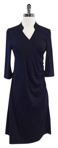 Anni Kuan short dress Navy 3/4 Sleeve Jersey on Tradesy
