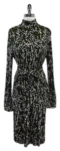 Tory Burch Leaf Print Tie Front Silk Dress