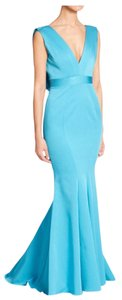 Zac Posen Pose Santia Gown Turquoise Dress