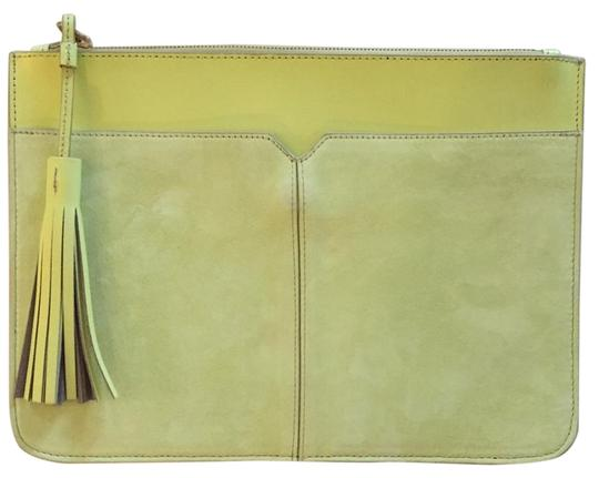 Preload https://img-static.tradesy.com/item/16776799/jcrew-and-tassel-lemon-pulp-leather-and-suede-clutch-0-1-540-540.jpg