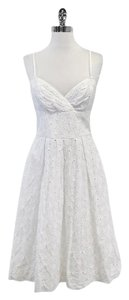 Lilly Pulitzer White Cotton Floral Eyelet Spaghetti Strap Dress