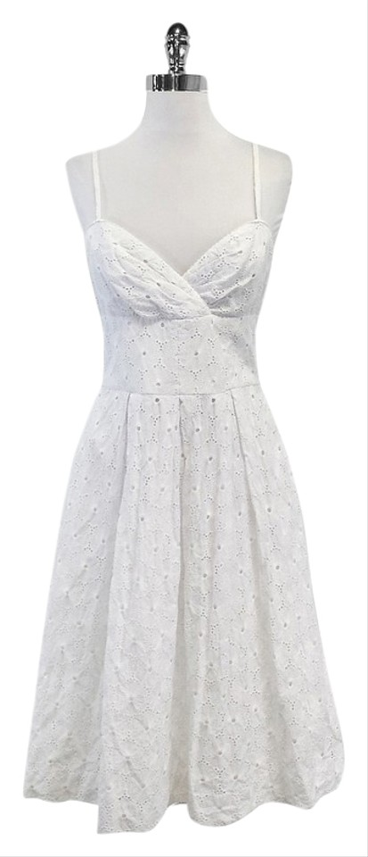 Lilly Pulitzer White Cotton Eyelet Spaghetti Strap High Low Formal