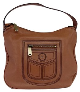 Marc Jacobs Brown Pocket Design Leather Hobo Bag