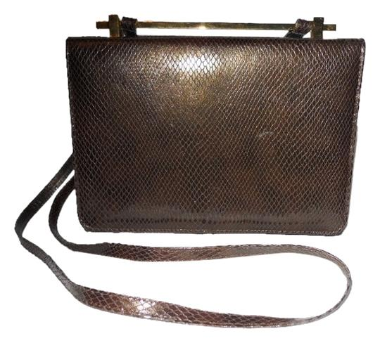 Stuart Weitzman Leather Snakeskin Shoulder Bag