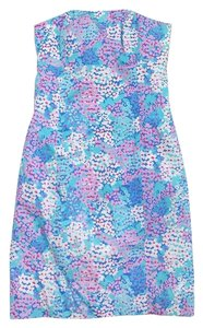 Lilly Pulitzer short dress Floral Cotton Strapless Cutout on Tradesy